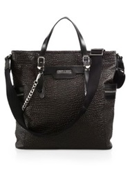 Jimmy Choo Dukes Leather Tote Bag Dark Brown