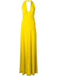 Etro Halter Neck Fitted Dress Yellow And Orange