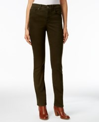 Styleandco. Style Co. Tummy Control Evening Olive Wash Straight Leg Jeans Only At Macy's