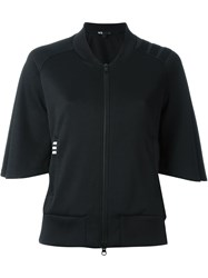Y 3 Wide Half Sleeve Sport Jacket Black