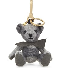 Burberry Thomas Bear Check Cashmere Charm 12Cm Pale Grey