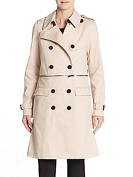 Rebecca Minkoff Melissa Convertible Trench Coat Nude Pink