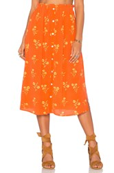 Minkpink Honey Blossom Skirt Orange
