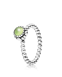 Pandora Design Pandora Ring Sterling Silver And Peridot Birthday Blooms August Silver Peridot
