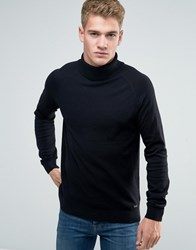 Threadbare Chunky Roll Neck Jumper Black