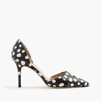 J.Crew Collection Elsie Dotted Snakeskin D'orsay Pumps Large White Dot