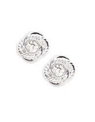 Kate Spade Textured Knot Stud Earrings Silver