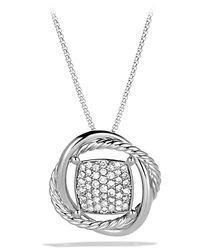 11Mm Pave Diamond Infinity Necklace David Yurman