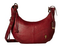 Frye Belle Bohemian Crossbody Wine Oiled Vintage Full Grain Cross Body Handbags Brown