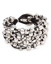 Uno De 50 Beaded Toggle Bracelet Silver