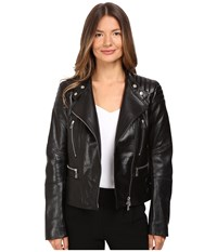 Belstaff Sidney Nappa Satin Leather Jacket Black Women's Coat