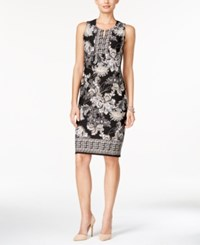 Jm Collection Printed Sheath Dress Only At Macy's Olive Sprig