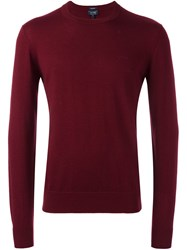 Armani Jeans Crew Neck Pullover Red