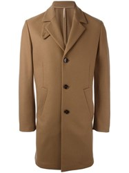 Paolo Pecora Single Breasted Coat Brown