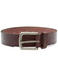 Barbour Leather Grain Belt Brown