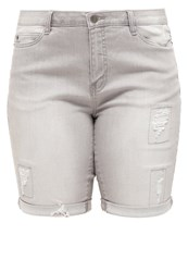 Junarose Jrfive Denim Shorts Light Grey Denim