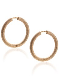 Carolina Bucci Rose Gold Sparkly Mirador Hoops