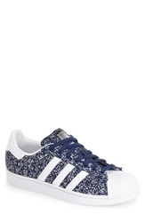 Adidas 'Superstar' Sneaker Men Oxford Blue White Blue