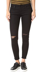 Blank Ripped Raw Hem Skinny Jeans Crazy Train