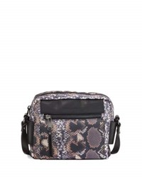 French Connection June Nylon Printed Crossbody Bag Python