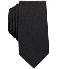 Bar Iii Solid Tie Only At Macy's Charcoal
