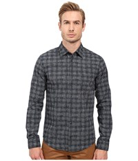 Boss Orange Enamee Plaid Shirt Navy Men's Long Sleeve Button Up Black