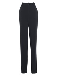 Bzr Bagga Straight Leg Trousers Navy