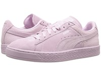 Puma Suede Classic Emboss Lilac Snow Women's Basketball Shoes Purple