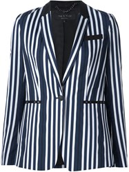 Rag And Bone Rag And Bone Striped Blazer Blue