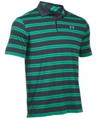Under Armour Men's Groove Striped Golf Polo Green