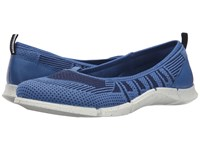 Ecco Intrinsic Karma Flat Cobalt Medieval Cobalt Women's Flat Shoes Blue
