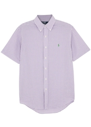 Polo Ralph Lauren Purple Gingham Cotton Shirt