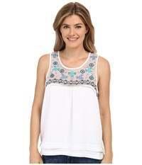Rock And Roll Cowgirl Tank Top B5 7304 White Women's Sleeveless