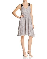 Hazel Crossover Lace Racerback Dress Compare At 120 Grey