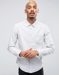 Esprit Shirt With Pocket And All Over Print Grey 030