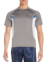 Fila Game On Mesh Colorblock Tee Pewter