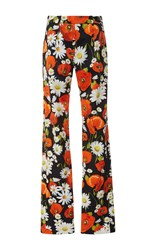Alexis Mabille Silk Poppy Relaxed Pants Black