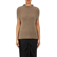 Rick Owens Women's Ribbed Cap Sleeve Sweater Grey
