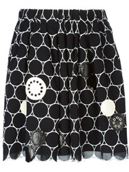 Marc By Marc Jacobs Embroidered Circle Skirt Black