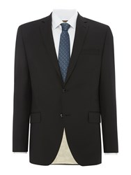 Corsivo Men's Como Italian Wool Textured Suit Jacket Black