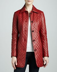 Neiman Marcus Quilted Leather Jacket Women's