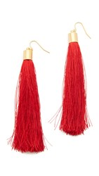 Adia Kibur Zoe Tassel Earrings Red