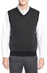 Men's Toscano Geometric Jacquard Sweater Vest