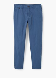 Mango Straight Fit Chinos Navy