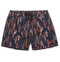 Hugo Boss Short Length Printed Swim Shorts Blue
