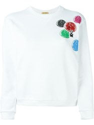 Peter Jensen Embroidered Circle Sweatshirt White