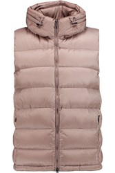Add Quilted Shell Hooded Gilet Brown
