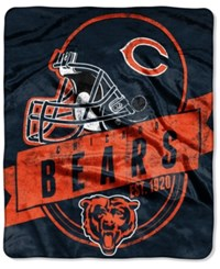 Northwest Company Chicago Bears Micro Raschel 12Th Man Throw Blanket Navy