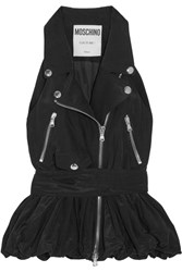 Moschino Padded Shell Peplum Vest Black