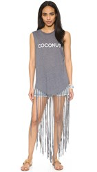 Wildfox Couture Coconut Fringe Tank Dirty Black